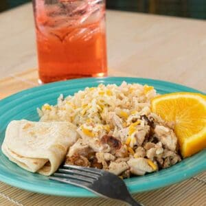 Kids Chicken and Rice Plate Menu Item