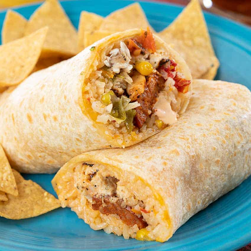 Paella Burrito Menu Item