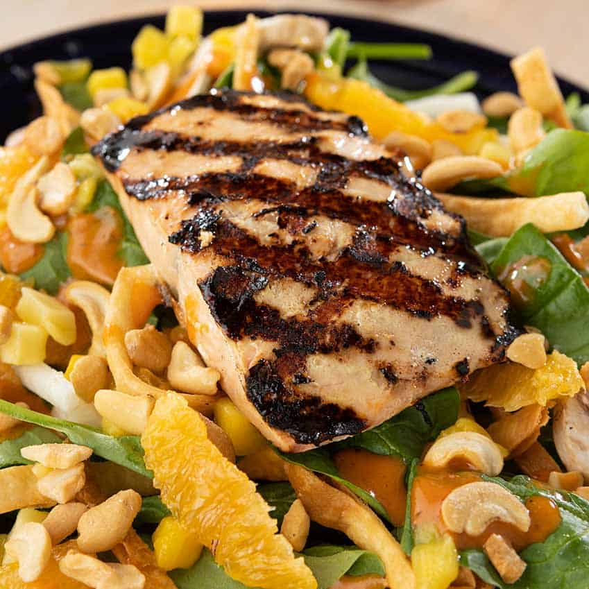 Spinach Salad with Salmon Menu Item